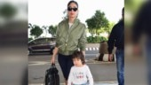 Kareena Kapoor adds thigh-high boots to airport look, but son Taimur's T-shirt takes the cake
