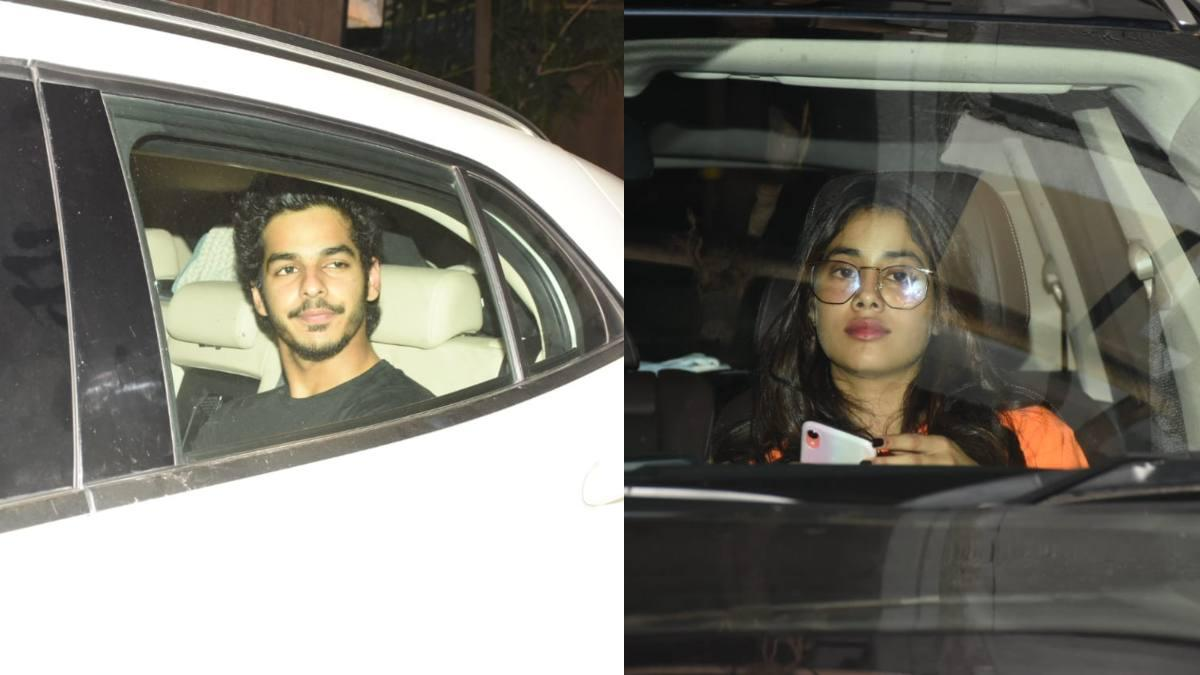 Ishaan Khatter and Janhvi Kapoor on a dinner date.