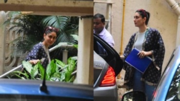 Kareena Kapoor Khan at Aamir Khan's home today.