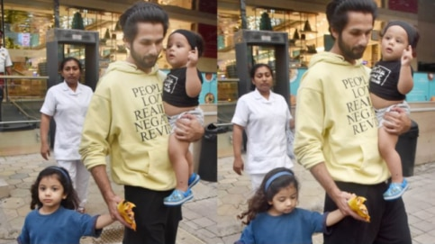 Shahid Kapoor with kids
