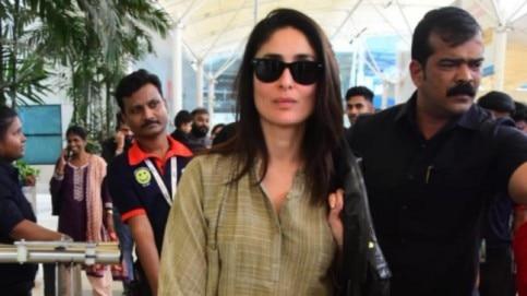 Kareena Kapoor at airport Photo: Yogen Shah