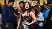 Bhumi Pednekar in spaghetti strap shimmery dress brings the party to Delhi. See pics