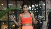 Janhvi Kapoor adds a blast of orange in sports bra and yoga pants at gym