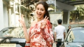 Ananya Panday in one-shoulder printed silk dress goes all glam for Pati Patni Aur Woh promotions