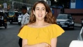 Sara Ali Khan in off-shoulder mini dress woos the bay with her gorgeous smile. See pics