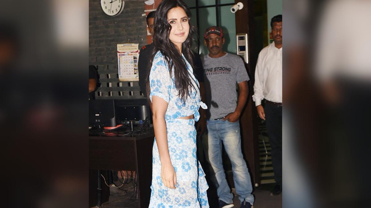 Katrina Kaif snapped at Arpita Khan and Aayush Sharma's wedding anniversary party. (Photo: Yogen Shah)