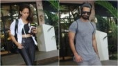 Mira Rajput gives monochrome twist to gym look in sports bra and yoga pants with Shahid Kapoor