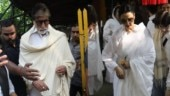 Shaukat Kaifi prayer meet: Rekha and Amitabh Bachchan pay their last respects
