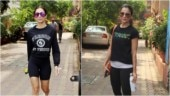 Malaika Arora is super comfy in tee and mini shorts at yoga class with sis Amrita. See pics