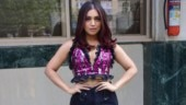 Bhumi Pednekar pairs sequinned crop top with denims for Pati Patni Aur Woh promotions. See pics