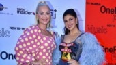 Katy Perry in quirky mini dress attends press conference with Jacqueline Fernandez in Mumbai