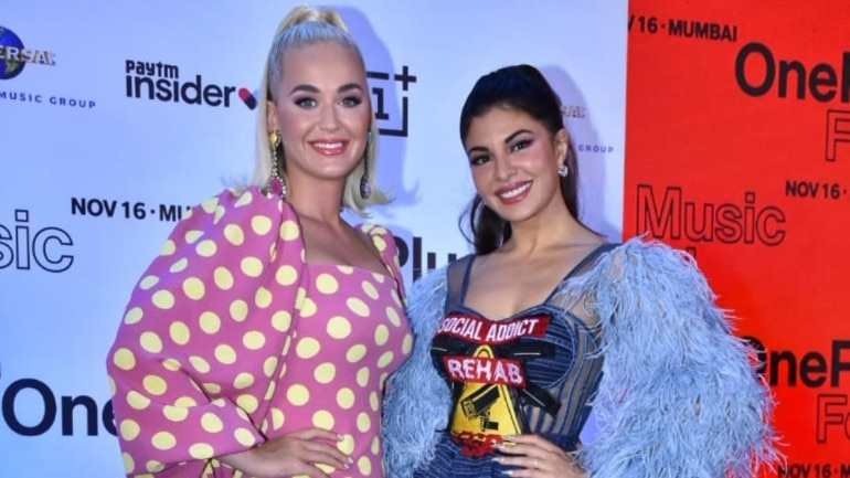 Katy Perry with Jacqueline Fernandez