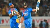 Rohit Sharma and Shikhar Dhawan stitched a 100-plus stand in India's 8-wicket win (PTI Photo)