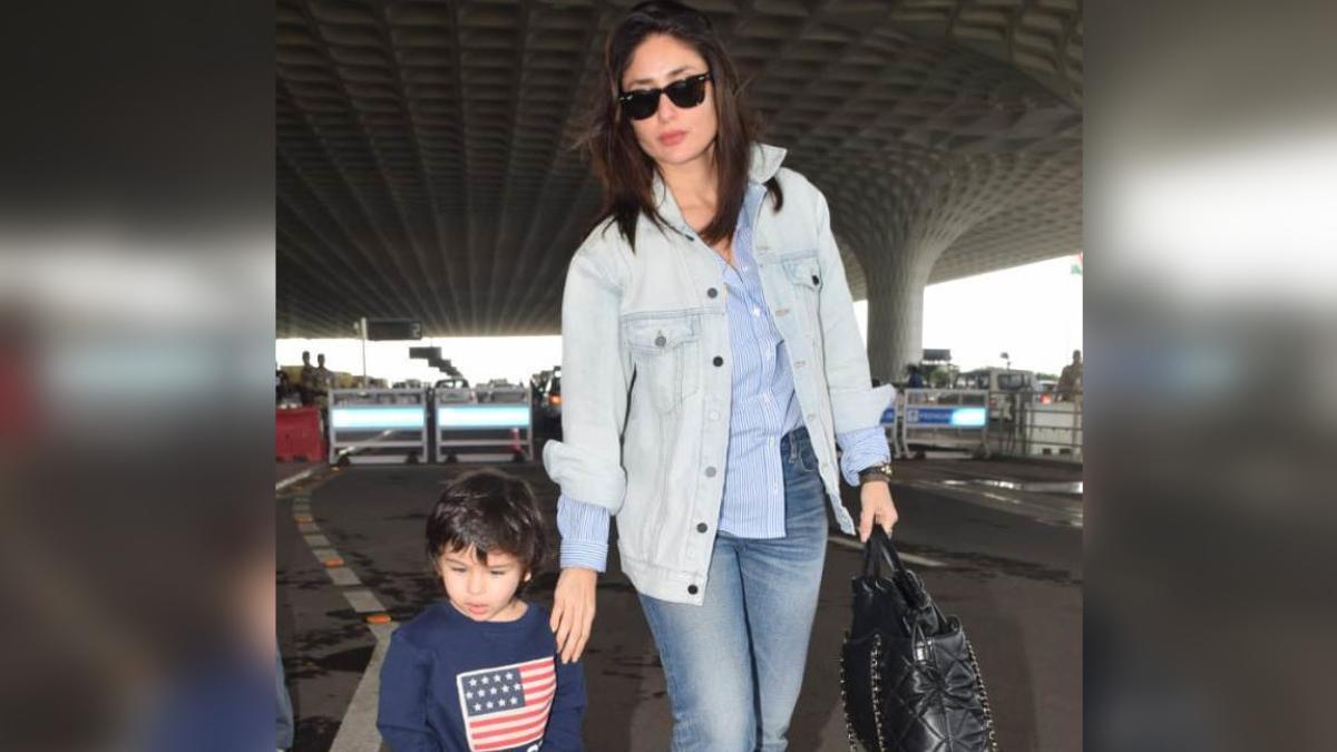 Kareena Kapoor Khan and Taimur at the airport Photo: Yogen Shah