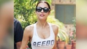 Malaika Arora in sports bra and sheer tights pulls of an effortless look at the gym