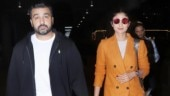 Shilpa Shetty in dress and blazer shows how to layer up for winters at Mumbai airport. See pics