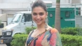 Deepika Padukone in quirky embellished saree and backless blouse turns into elegant princess