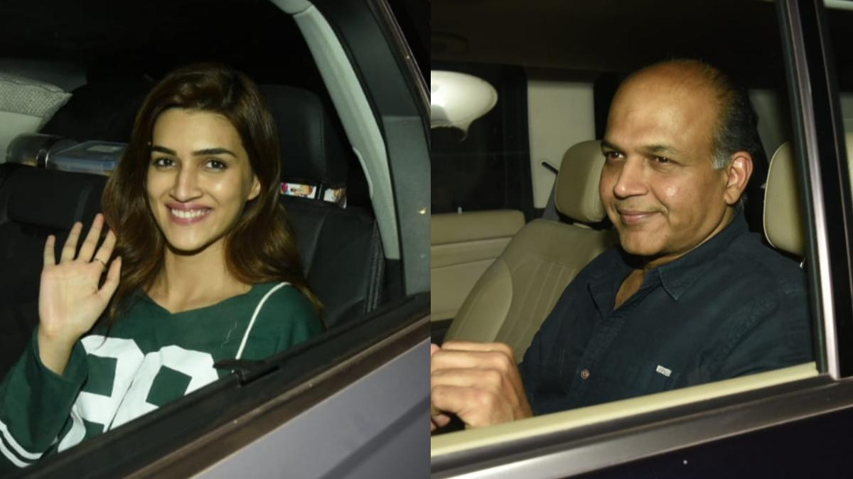 Ashutosh Gowariker and Kriti Sanon. Pic: Yogen Shah.
