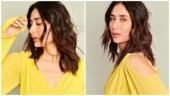 Kareena Kapoor is resplendent in yellow dress with risque slit for Good Newwz promotions