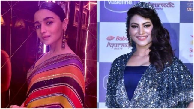 Alia Bhatt and Urvashi Rautela at Screen Awards 2019