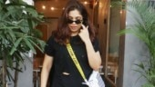 Bhumi Pednekar in distressed tee and tights proves all-black is a forever glam look. See pics