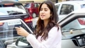 Janhvi Kapoor in sports bra and mini shorts with sheer jacket goes casual for lunch date. See pics