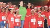 Isha Ambani and Nita Ambani celebrate Christmas with 4,000 children from NGOs in Mumbai. All pics