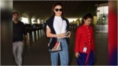 Jacqueline Fernandez pairs casual tee and quirky denims with Rs 2.8 lakh bag at airport. See pics