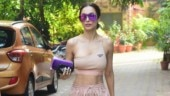 Malaika Arora in nude one-shoulder bralette and pants does athleisure look right. See pics