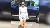 Malaika Arora in basic tee and comfy shorts is casual gym look done right. See pics