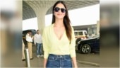Vaani Kapoor is stylish in neon green crop top and denims at Mumbai airport. See pics