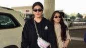 Raveena Tandon and daughter Rasha Thadani look effortlessly chic at Mumbai airport. See pics