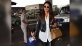 Geeta Basra pairs Rs 2.2 lakh bag with leather pants and jacket at airport. See pics