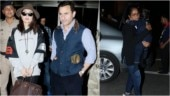 Kareena Kapoor Khan, Saif Ali Khan and Taimur Ali Khan take off for New Year celebrations. See pics