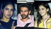 Pati Patni Aur Woh: Kartik Aaryan, Ananya Panday and Bhumi Pednekar take family to Mumbai screening