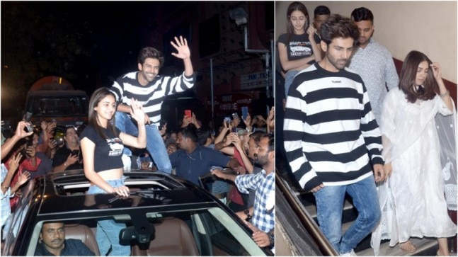 In pics: Ananya Panday and Bhumi Pednekar spotted together. But don't miss Kartik Aaryan's stunt (Yogen Shah)