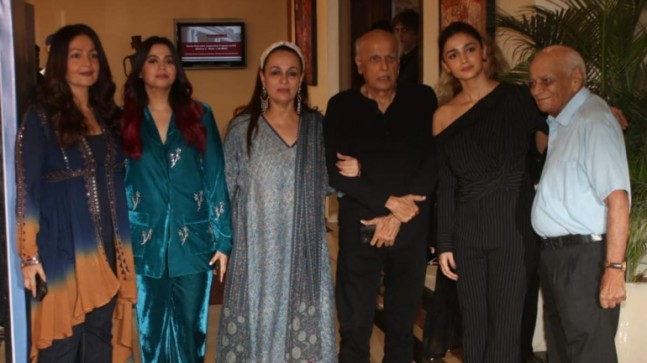 Alia Bhatt and Pooja Bhatt with their family member's at Shaheen's book launch event.