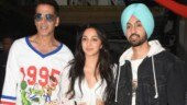 Akshay Kumar, Kiara Advani and Diljit Dosanjh promote Good Newwz in Mumbai. See pics