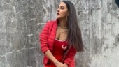 Neha Dhupia in all-red athleisure outfit is fierce and sexy. Even hubby Angad Bedi agrees
