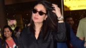 Kareena Kapoor in baggy shirt and pants gives a sexy twist to comfy airport look. See pics
