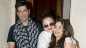 Janhvi Kapoor in crop top and denims smiles for the camera with Rekha at Manish Malhotra's home