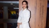 Deepika Padukone keeps it simple in white shirt and skirt at Chhapaak promotions. See pics