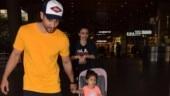 In pics: Soha Ali Khan and Kunal return to Mumbai with Inaaya Kemmu from New Year vacation