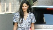 Katrina Kaif in printed midi dress and white sneakers is all about chic comfort clothing. See pics
