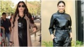 Nora Fatehi takes fashion cues from Deepika Padukone, dons all-leather outfit at Mumbai airport