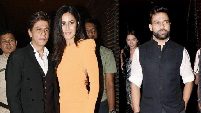 Katrina Kaif and Shah Rukh Khan attended Ali Abbas Zafar's birthday party on Thursday.