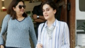 Taapsee Pannu amps up casual attire with chunky jewellery and turquoise blue chappals on day out