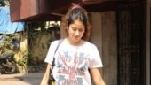 Janhvi Kapoor adds a Kohlapuri twist to baggy top and mini shorts at gym. See pics