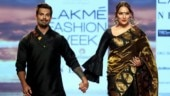 Bipasha Basu and Karan Singh Grover twin in all-black as they walk hand-in-hand at LFW Day 4