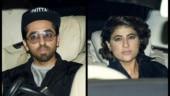 Ayushmann Khurrana and Tahira Kashyap attend Bhumi Pednekar's house party. See pics